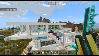 Обзор на мой дом, участок, горки водные и бункер в Minecraft