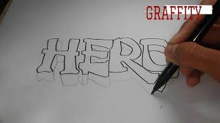 Cara mudah menggambar graffiti (part.2)