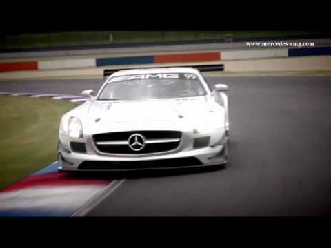 SLS AMG GT3 Racecar Warm-Up with Tommy Kendall -- Clip 6