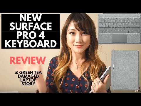 ♡New Surface Pro 4 Signature Type Cover♡ two-tone gray mélange Alcantara