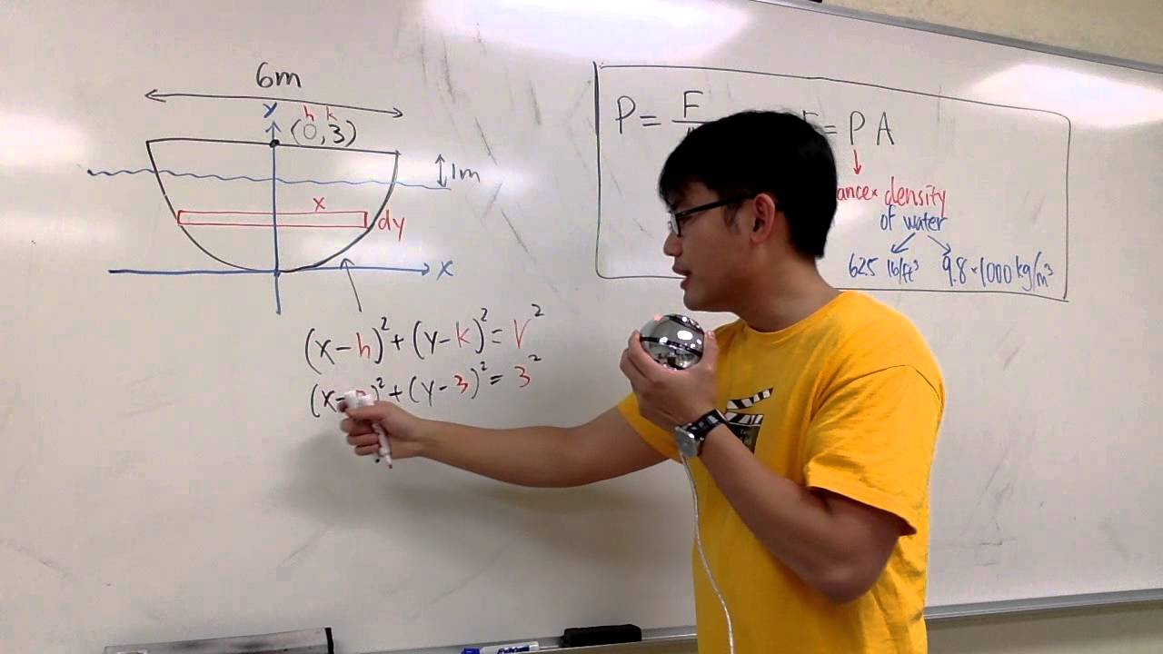 Download Sect 8 3 #5  Hydrostatic Force, Calculus 2