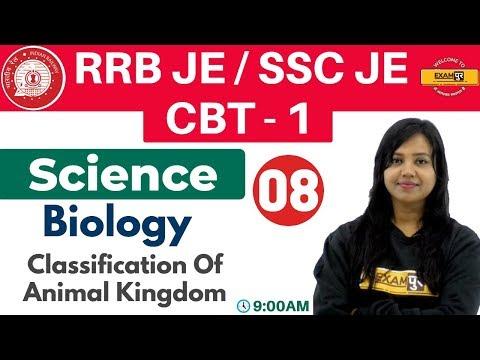 Class 08 ||#RRB JE/SSC JE/CBT - 1 || Science || Biology|| By Amrita Ma'am |Classification Of Animal