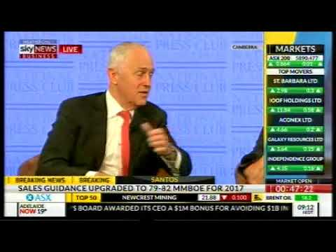 Press Club: Prime Minister Malcolm Turnbull MP and James Pearson