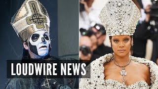 ghost react to rihannas pope outfit