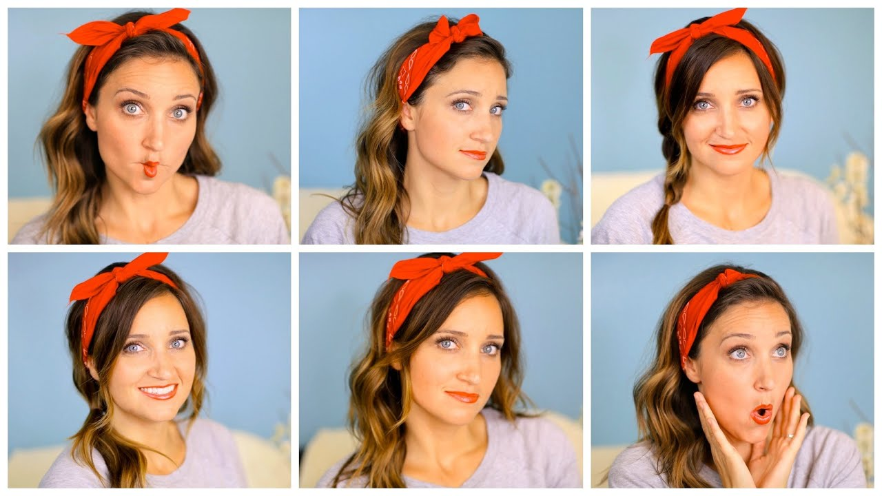 Six DIY 1-Minute Bandana Hairstyles  b7aa22ed14f