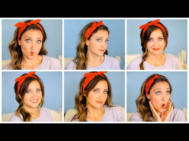 Six DIY 1-Minute Bandana Hairstyles | Cute Girls Hairstyles Travel Video