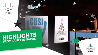 """Video story """"From Taipei 2017 to Naples 2019"""" - à CONI - Hall of Honor."""