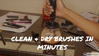 WASH & DRY MAKEUP BRUSHES IN 10MINS||PERFECT GIFT FOR HER