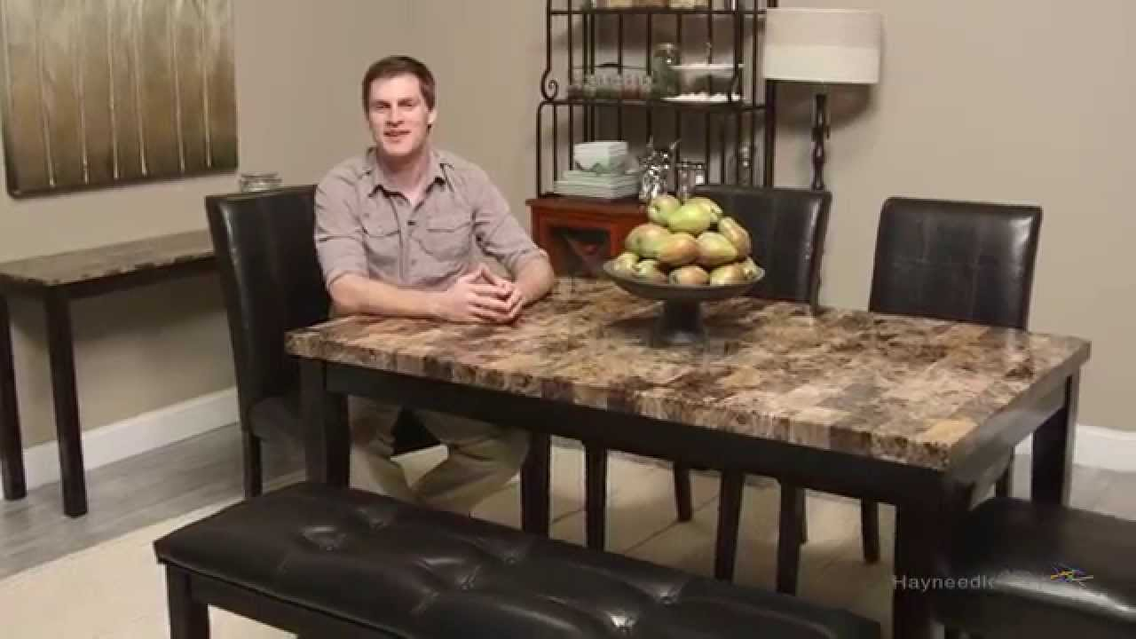 Finley Home Palazzo 6 Piece Dining Set with Bench  sc 1 st  YouTube & Finley Home Palazzo 6 Piece Dining Set with Bench - YouTube
