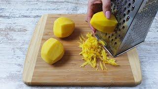 Рецепт тертого картофеля за несколько минут Картофель и яйца с сыром