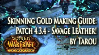 Cata Skinning Gold Guide: 3k Per Hr Best Spots - Savage Leather & Blackened Dragonscales!