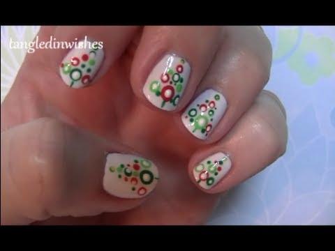 short nails easy abstract