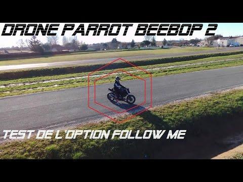 [FR] Test Follow Me en Moto | Drone Parrot Bebop 2 | Bonne Année ! | Gavé Moto | RideLife