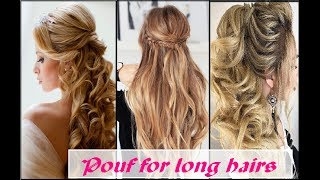 Video latest poufs  for long hair // easy casual & partywear  hairstyles for girls \ Fashion Alert download MP3, 3GP, MP4, WEBM, AVI, FLV November 2018
