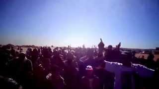 أول مظاهرة ضد الاخوان والارهاب فى قناة السويس الجديدة فبراير2015
