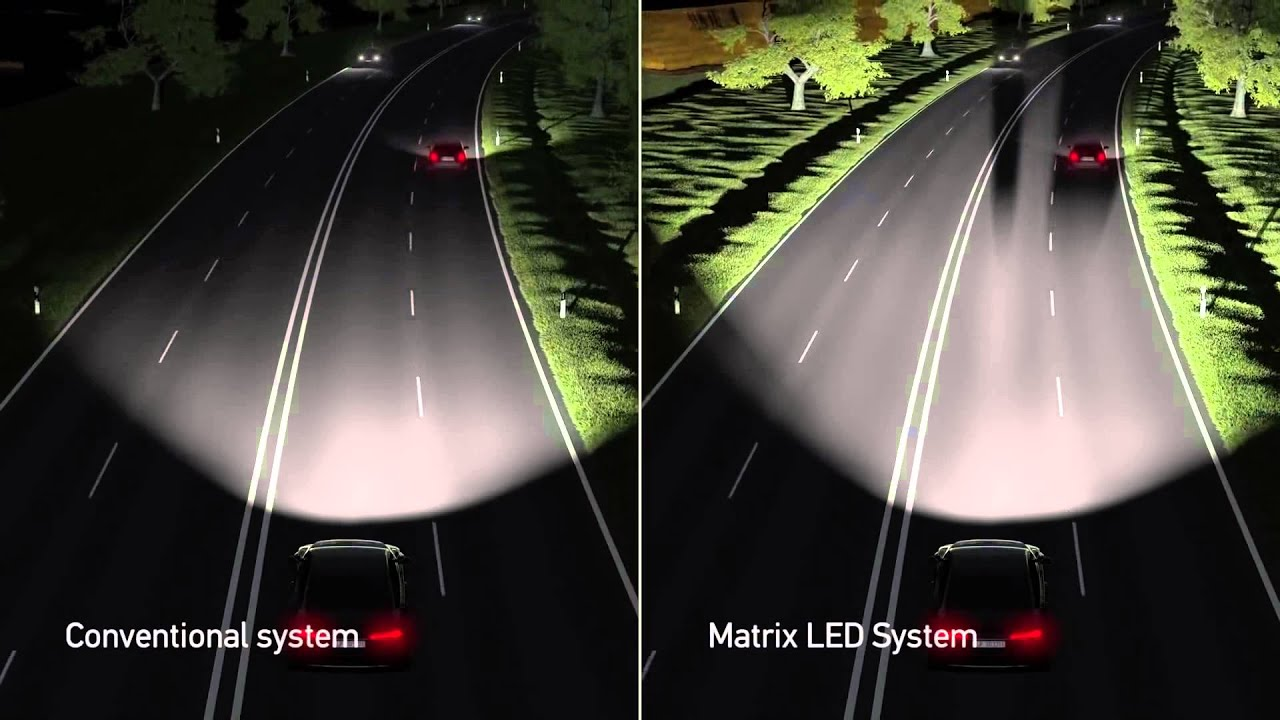 Audi tecnologa Faros Matrix LED  YouTube