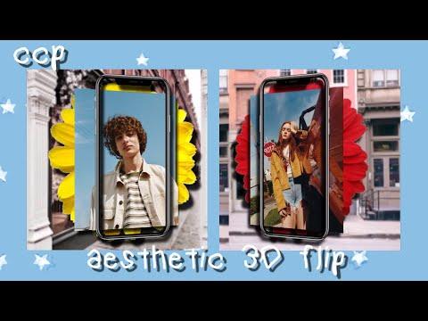 Aesthetic 3D flip tutorial || Cute cut 🦋