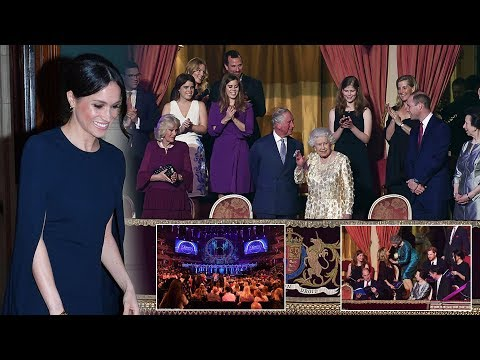 Meghan stuns at Queen's Birthday Party matching Harry & Lady Louise in navy blue