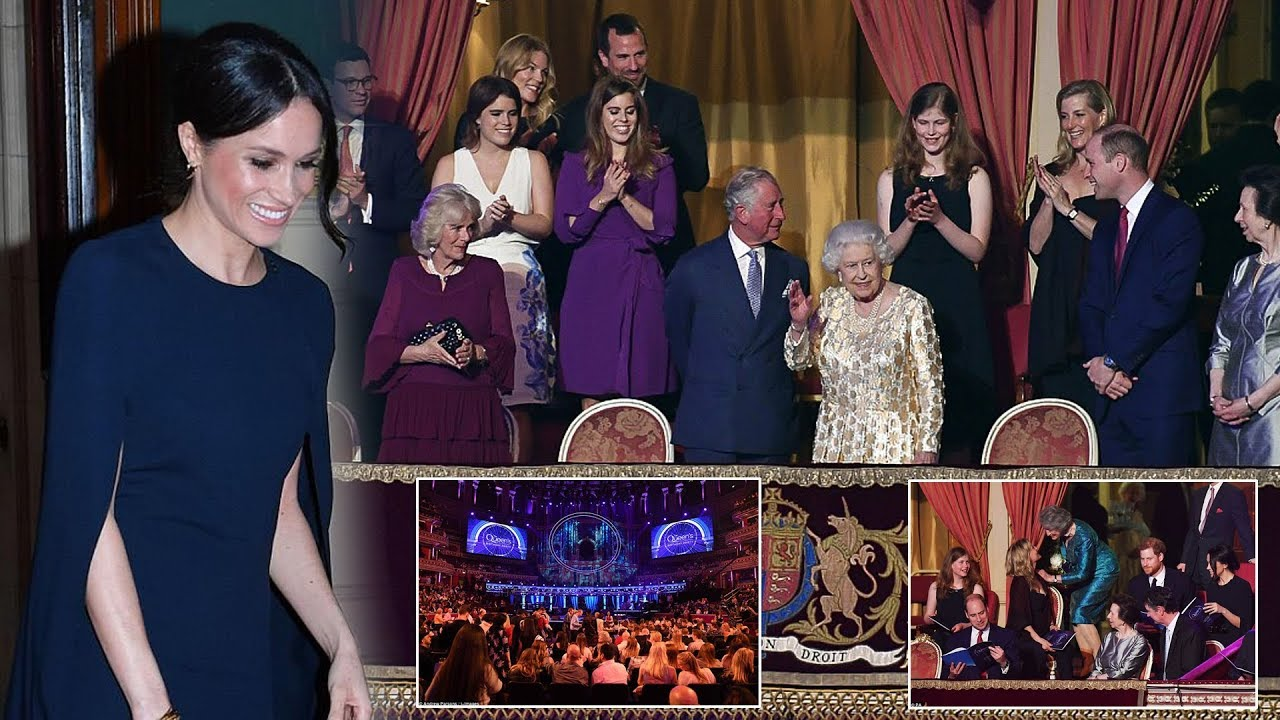 Meghan stuns at Queen\'s Birthday Party matching Harry & Lady Louise ...