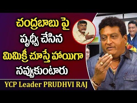 YCP Leader Prudhvi Raj Hilarious Mimicry On Chandrababu    YSRCP VS TDP    AP Politics    Stv News