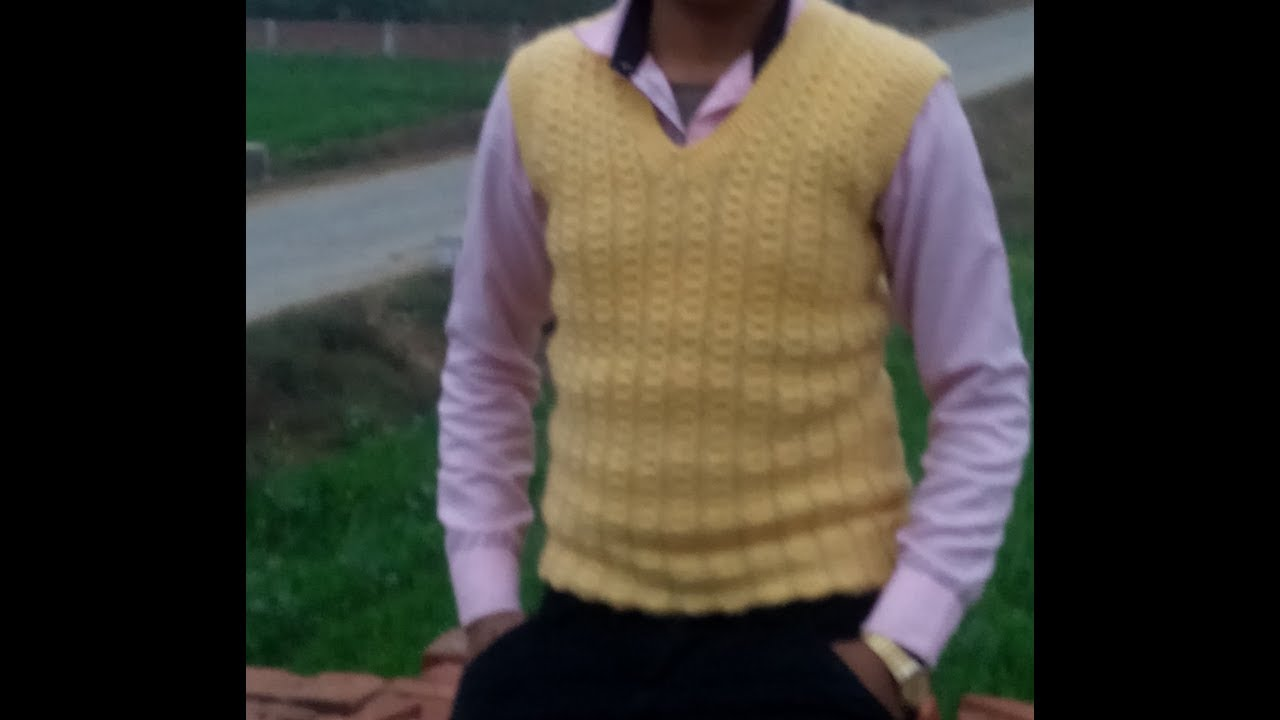 67be3e6cc Gents Half Sweater Knitting Part (1) sweater bunai Hindi men