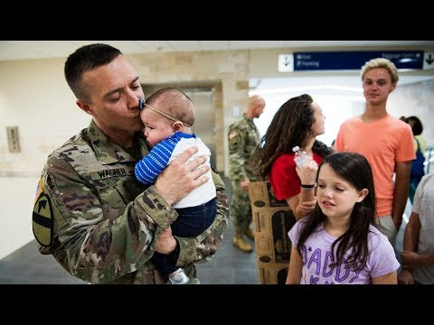 Soldier Meets Baby for First Time Compilation 2013