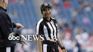 NFL hires league's 1st Black female on-field official   WNT