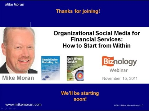 Organizational Social Media for Financial Services