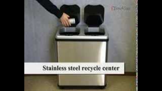 Itouchless 16 Gallon Dual-compartment Automatic Sensor Touchless Recycle Bin/trash Can It16res