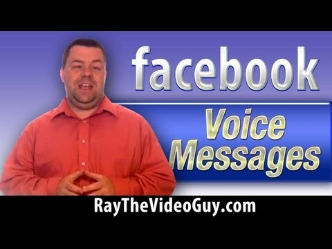 Facebook Voice Messaging - How To Leave Voice Messages In Facebook Chat