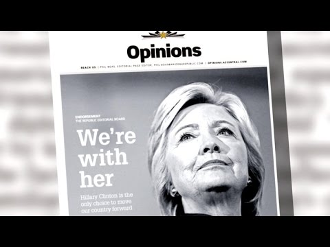 Arizona Republic responds to death threats for endorsing Clinton