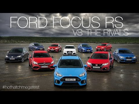 Ford Focus RS vs Honda Civic Type-R vs Audi RS3 vs Mercedes-