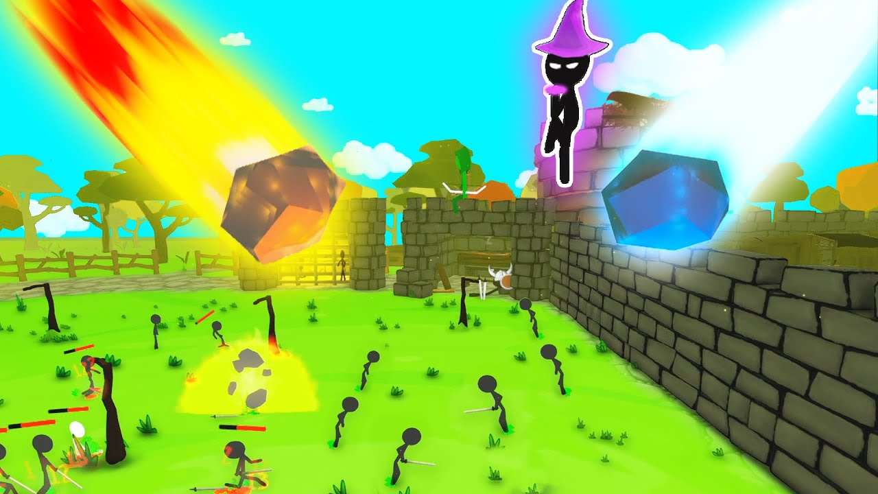 DEFENDING My Castle From The STICKMAN INVASION in Stick War Castle Defense
