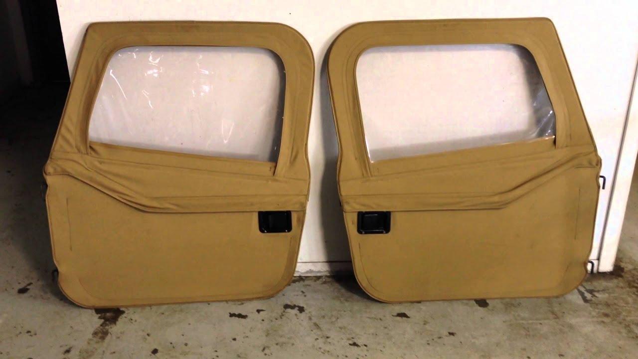 87 95 Jeep Wrangler Yj Tan Camel Spice Full Soft Doors