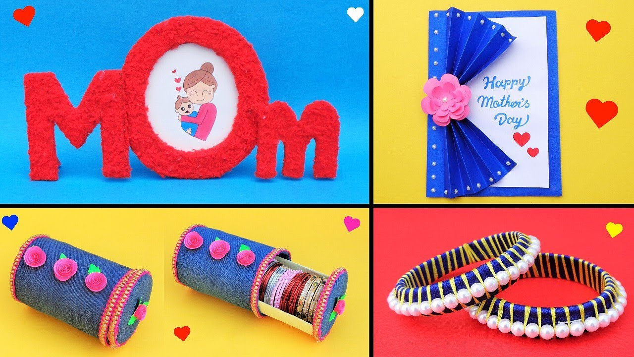 4 Diy Amazing Mother S Day Gift Ideas Best Out Of Waste Gifts Making For Mom During Lockdown Youtube