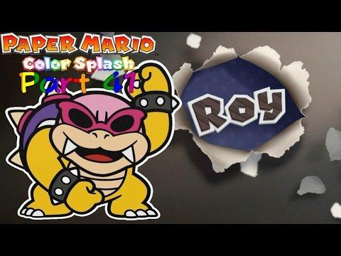 """(Blind) Paper Mario Color Splash (HD) Part 41 """"Bower's Black Paint Bomb Factory"""""""