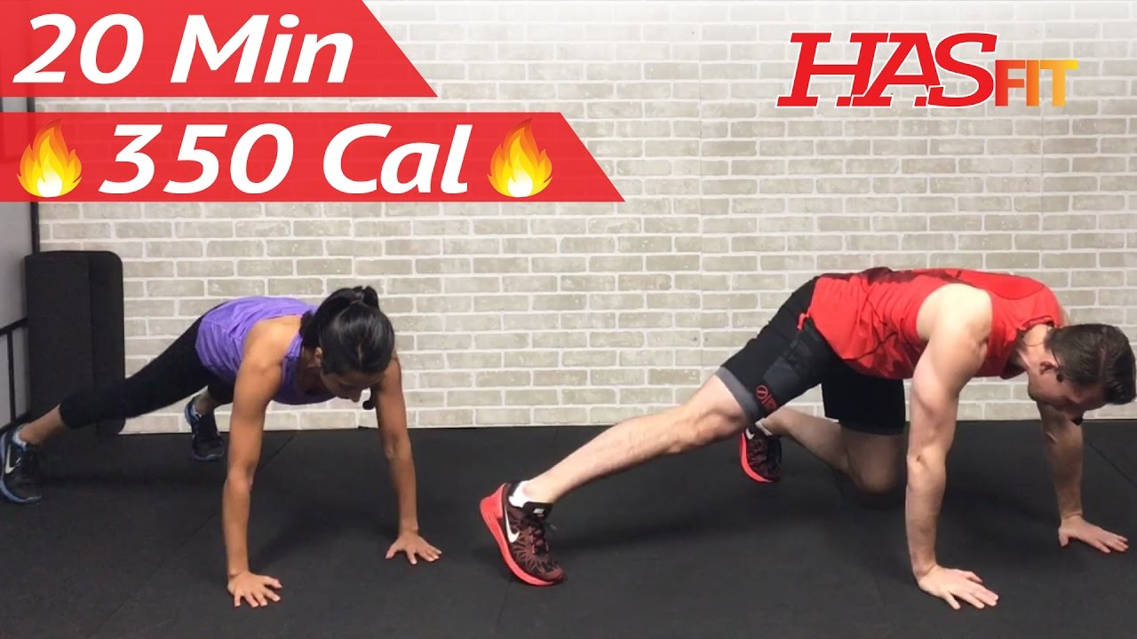 20 Minute Fat Burning HIIT at Home Cardio Workout Without Equipment Full Body Workout No Equipment