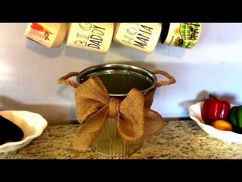 Easy Rustic Burlap N Metal DIY Bathroom Waste Basket!  & Hobby Lobby Haul