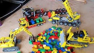 Lego Technic 8275 Motorized Bulldozer, Crane and Truck 8285
