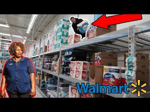 FUNNIEST WALMART TOILET PAPER FORT EVER! (GOES TOO FAR)