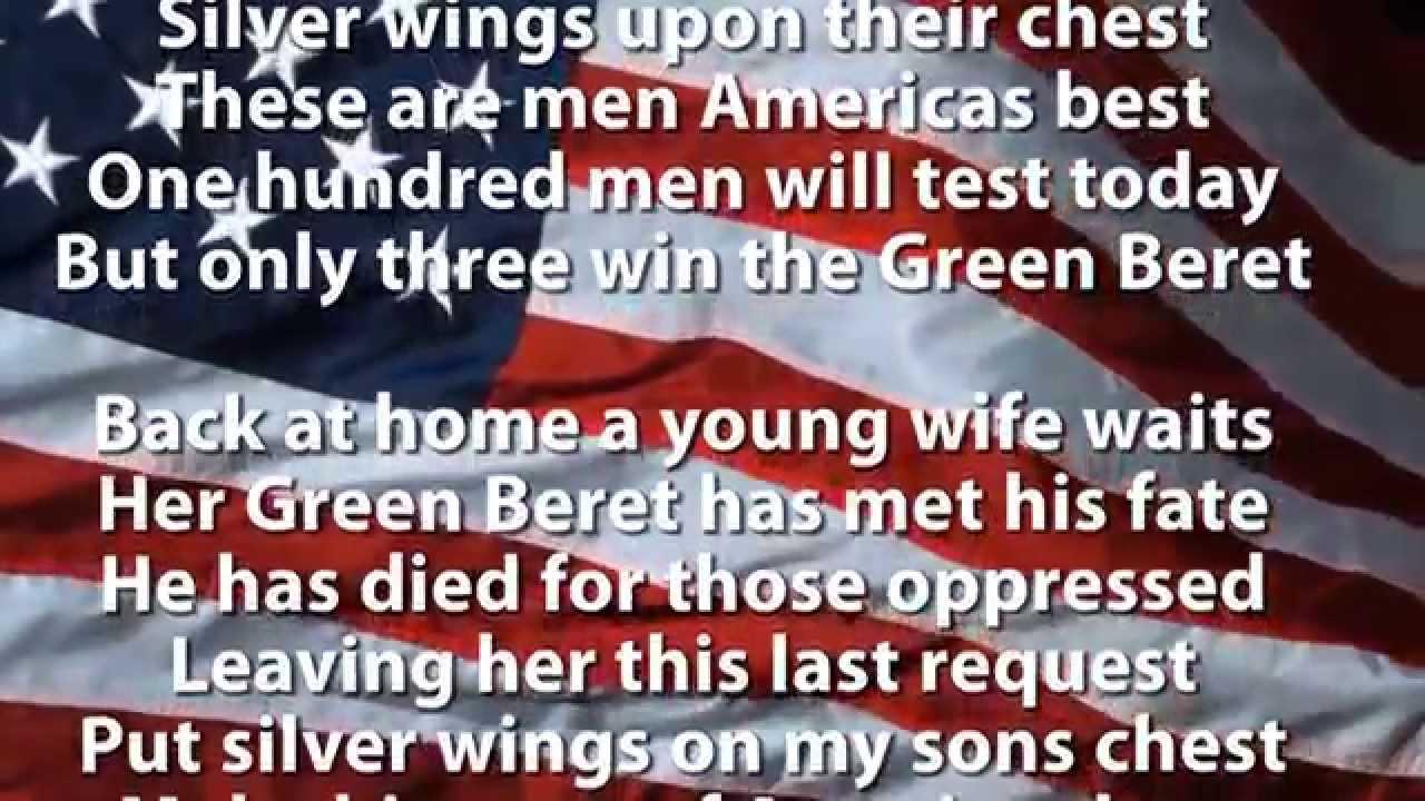 Ballad of the Green Berets - [HD] - - - SSGT Barry SADLER ...