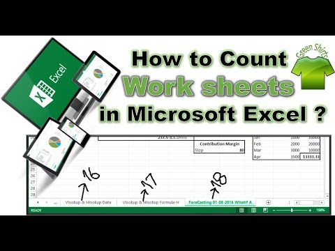How to COUNT WORKSHEETS in Microsoft Excel