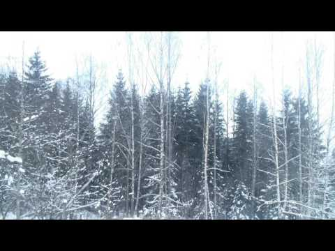 Snow falling in Norway, 1 hour
