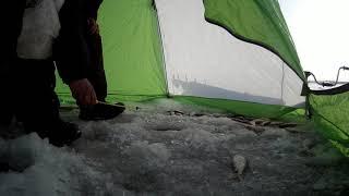 Зимняя рыбалка на Вячеславском водохранилище Нур Султан