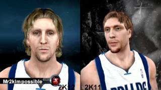 NBA 2K11 and NBA 2K12 Face Comparison`s