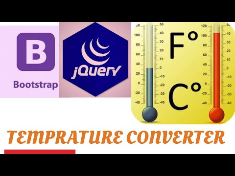 how to make tempreture converter using bootstrap and jquery thumbnail