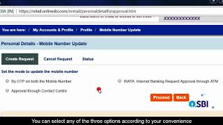 SBI RINB How to Change Mobile Number Online Without Visiting Branch