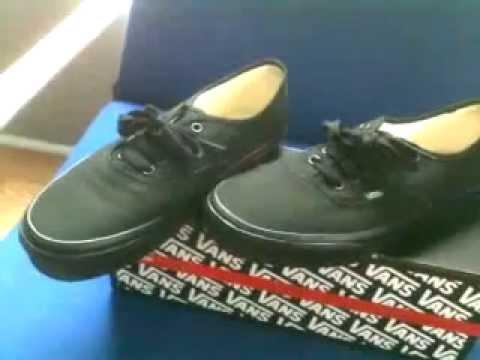ba5b60f973 Authentic Vans Black Black review - YouTube