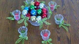 How to Make a Christmas Soy Votive Candle Centerpiece Decoration