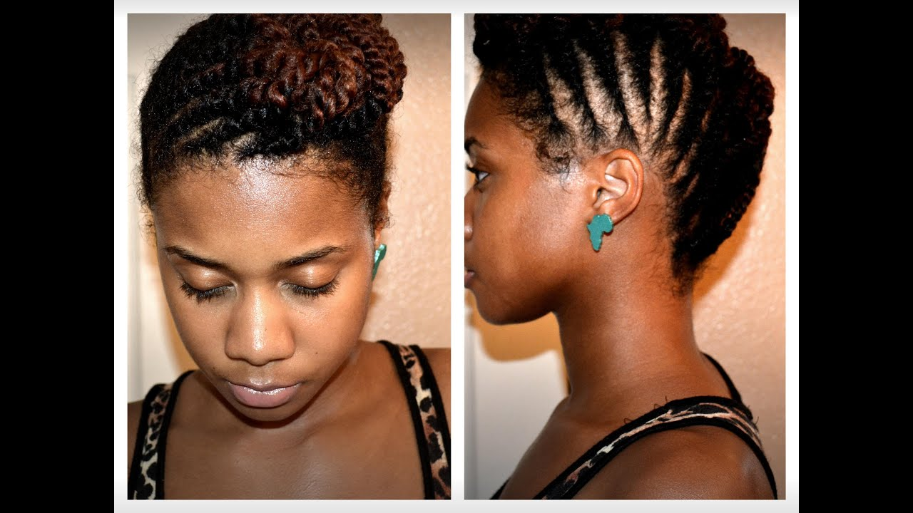 How To: Two Strand Flat Twist On Natural Hair (Protective